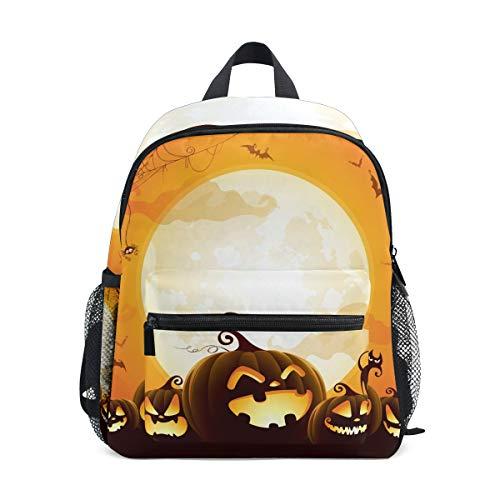 WowPrint Halloween-Muster Rucksack Kinder Kindergarten Vorschultasche Büchertasche Tasche für Kleinkinder Mädchen Jungen Unisex