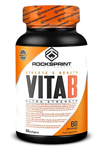 ROCKSPRINT | VITAMINAS COMPLEJO B | Energía, Concentración, Sistema Nervioso | Vita B | 60 caps