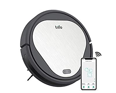 Trifo Emma Robot Vacuum Cleaner, 3000Pa Super-Strong Suction, 110-Minute Runtime, Wi-Fi Connectivity, Compatible with Alexa, Good for Pet Hair, Carpets, Hard Floors, Tile, Self-Charging,gray