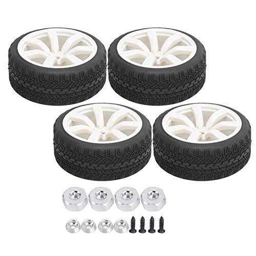 FASJ Neumático de Goma, neumáticos de Goma RC de plástico de Repuesto de 65 mm de diámetro compatibles para Coche WPL D12 1/10