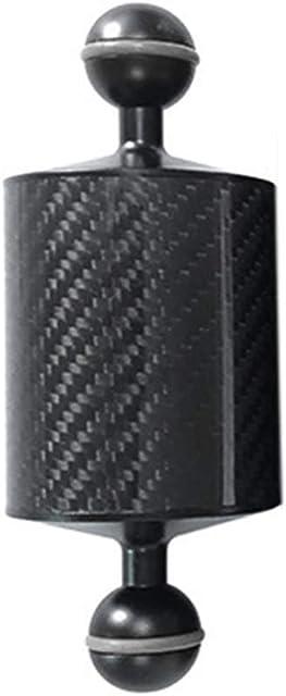 Buceo Brazo Junta de Rótula Buceo Estroboscopica Montaje de Cámara bajo Agua Fotografía Accesorios Exterior Profesional Extensión Soporte Linterna Soporte - Negro 60mm 5 Inch