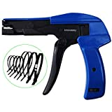 Cable Tie Gun,Knoweasy Fastening Cable Tie Tool,Die-Cast Steel Flush Cut Point Zip Tie Gun with Steel Handle for Nylon Cable Tie,7 Inches Length