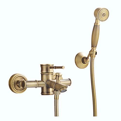 Duscharmaturen Messing Golden Wand Regen Badezimmer Wasserhahn Große Runde Duschkopf Hand Badewanne Mischbatterie Set