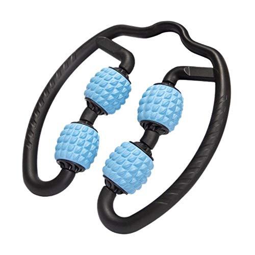 ANGOU 1Pc Foam Shaft Roller Muscle Relaxer Hand Leg Massage Roller Lean Leg Massage-Blue
