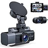 4K Dash Cam Front and Rear Inside 3 Channel Dashcam,CAMBASE 4K+1080P Front and Inside Dual Dash Cam,1440P+1080P+1080P Triple Car Camera,IR Night Vision,Capacitor,Parking Mode,G-Sensor,Support 256GB