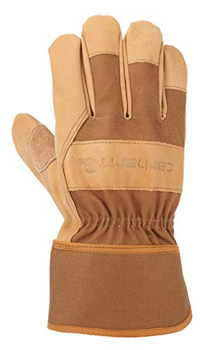 Carhartt Men's System 5 Work Glove with Safety Cuff, Brown, Medium