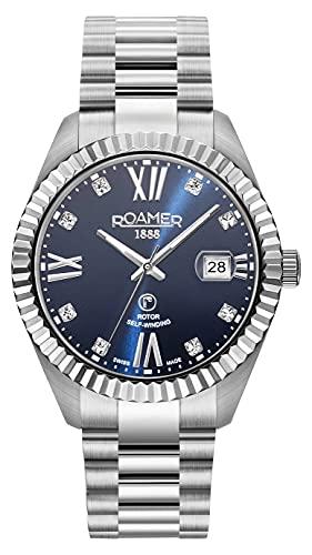 Roamer Primeline Crystal Swiss 981661 41 49 90 - Reloj automático