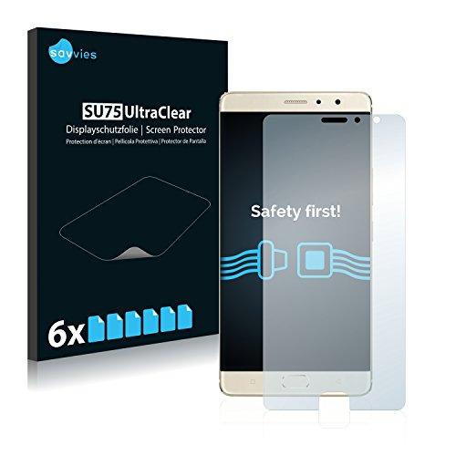Savvies 6X Schutzfolie kompatibel mit Gionee M6 Plus Bildschirmschutz-Folie Ultra-transparent