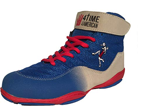 4-Time All American The Patriot, Blue Wrestling Shoes Size 3