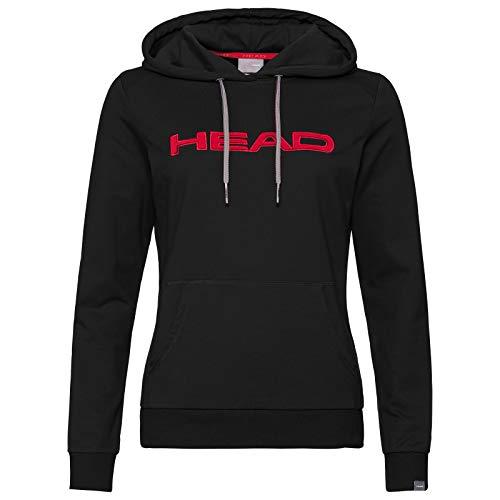 HEAD Damen, Club Rosie Hoody, Rot Oberbekleidung, schwarz, L
