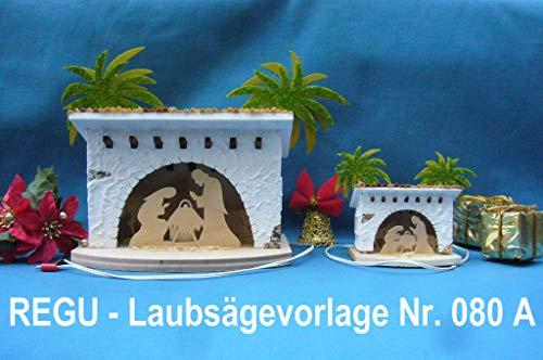 REGU - Laubsägevorlage Weihnachtskrippe Bethlehem Typ A zum selber Bauen Nr. 080