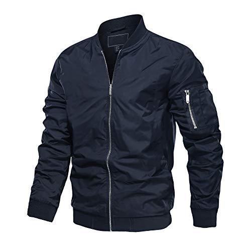 Homme Veste Tactiue Veste Militaire Blouson Moto Veste Décontractée d'homme Manteau Coupe-Vent Veste Légère Veste Zippée Bomber Veste Base-Ball Jacket