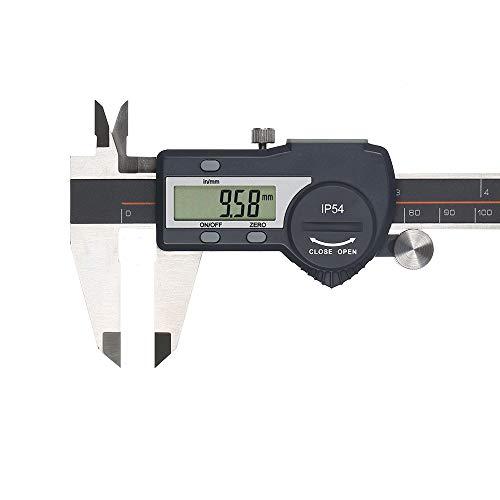 Vistreck SteelVernier - Calibre digital (pantalla LCD de alta precisión, IP54, resistente al agua, 0-150 mm)