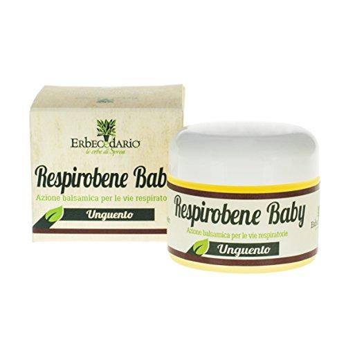 Unguento Balsamico Naturale Per Bambini Respirobene Baby, Balsamico Coadiuvante In Caso Di Naso Chiuso, 1 Vasetto 30ml