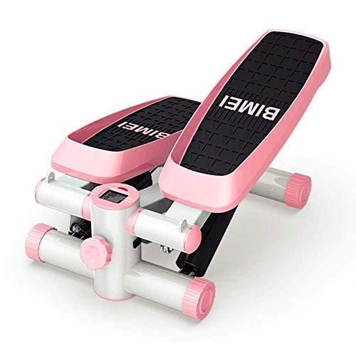 Mini-Stepper Swing Stepper Stepper aeróbico Ejercicio Ajustable Stepper,Unisex Home Gym Workout Equipment - Azul/Rosa