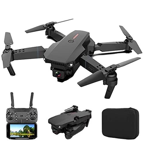 FKZX Droni Pieghevoli con videocamera HD per Adulti Quadricottero RC Live Video Altitude Hold modalità Senza Testa One Key Take off per Bambini o Principianti con Black