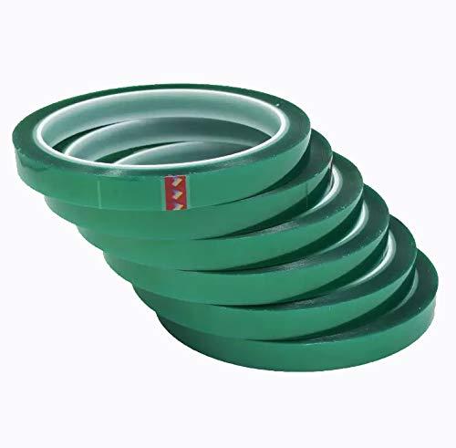 Los Eventos de la Tata. PACK 6 unidades de Cinta Térmica Adhesiva verde alta calidad especial para sublimar, resistente a altas temperaturas |No Mancha