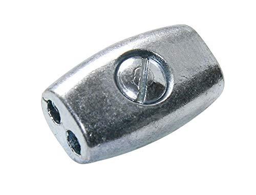 Litzenverbinder für Weidezaunlitze, Eiform oval - verzinkt, 10 Stück - Verbinden statt Knoten - Anschließen und verbinden von Litze und Drahtlitze
