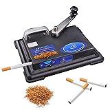 GUOJIN Macchinetta Rollatore per Sigarette, Manuale Prepara Sigarette Professionale Macchinetta per Arrotolare Sigarette per Uomo Padre, 9,8X7,1X3,9 Pollici (Nero)