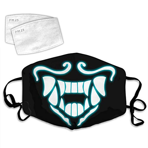 Ninja Aka-Li K-D-A Fluorescence Cosplay Dust Mask Mouth Face Fliter Adjustable Breathable Washable Reusable Windproof Cover