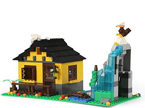 Modbrix Bausteine Haus Berghütte Konstruktionsspielzeug mit 389 Klemmbausteinen