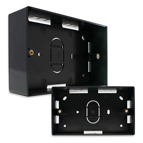 I-CHOOSE LIMITED Backbox a Montaggio Superficiale Nero Doppia Gang 146 x 86 x 46 mm Patacca Elettrica BackBox