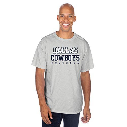 NFL Dallas Cowboys Mens Practice T-Shirt, Gray, Large