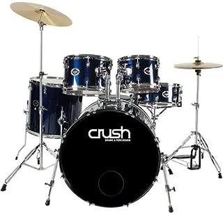 Crush Drums Alpha 5 Piece Complete Drumset, Includes 22x18
