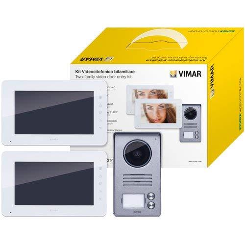 K40911 - Videoportero de dos familias con monitor de 7' y estación de puerta de gran angular de 120°