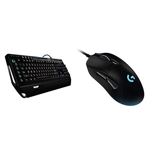 Logitech G910 Orion Spectrum mechanische Gaming-Tastatur, Taktile Romer-G Switches, RGB-Beleuchtung + Logitech G403 Hero Gaming-Maus mit Hero 16000 DPI Sensor, LIGHTSYNC RGB, Geringes Gewicht von 87g