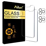 Ailun 2 Pack Screen Protector Compatible for iPhone 13 Pro Max [6.7 inch] Display 2021 with 2 Pack Tempered Glass Camera Lens Protector,[9H Hardness]-HD