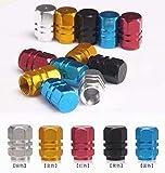 LINSUNG 4x Tapas Tapones Válvulas Cubierta de Neumático Aluminio para LLanta de Camión Coche