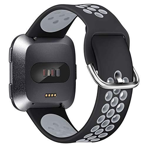 XIMU Compatibile con Fitbit Versa Cinturino/Versa 2 Cinturino/Versa Lite Cinturino, Regolabile Morbido Sportivo di Ricambio Banda in TPU Silicone Accessori Compatibile con Fitbit Versa