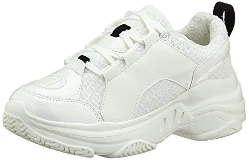 Desigual Sneaker Chunky White, Zapatillas de Deporte Mujer, Blanco 1000, 37 EU