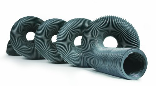 Camco 39651 3965 Durable High Tensile Strength Sewer Steel Wire Core, 20'Hose with 18 mils of HTS Vinyl, Simple and Easy Storage, Gray