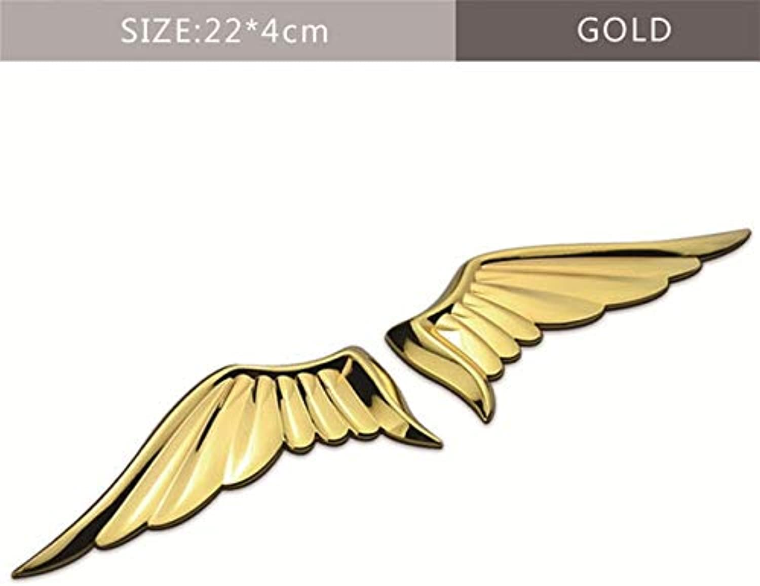 Auto Sticker Angel Wing Logo Rear Emblem for Peugeot Mitsubishi Volkswagen Chevrolet Dodge for Jeep Seat Nissan Volvo Hyundai  (color Name  gold)