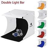 24x23x22 cm Kit de Tienda Mini Cubo Estudio Foto Difusor Luz Suave Iluminación Caja de Fotografía, con 6 Telones de Fondo para Estudio Foto Video y Fotografía