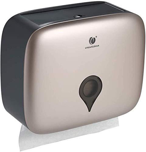 ZJSXIA Hotel Sanitario Aseo Caja de pañuelos Aseo Mano Limpiar Caja de Papel Montado en Pared Caja de Papel higiénico No Perforado Caja de Papel de Bombeo Durable portarrollos baño