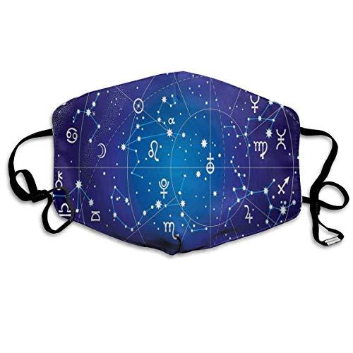 Fun-World Bequeme Winddichte Maske, Sternbild und Planeten Ursprüngliche Koordinaten des Himmelskörpermusters