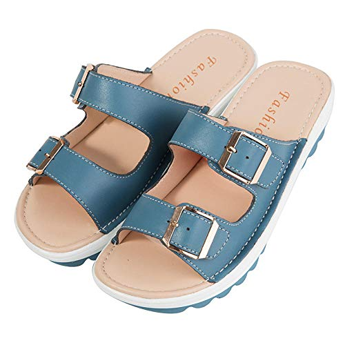 N/A Slippers Women Size 6,Mens Slippers Size 11 UK,Mens Slipper Boots,Sheepskin Slippers Men's,Kids Pool Shoes,Summer Sandals and Slippers, Ladies Casual Sandals, Beach Sandals-Blue_41