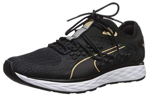 PUMA Men's Speed 600 FUSEFIT Sneaker, Black-White-taostaupe, 8 M US