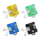 SITAKE 4 Stück Kopfhörer Kabel Organizer, Halter für Ohrhörer, Headset Wrap Winder und Cord...