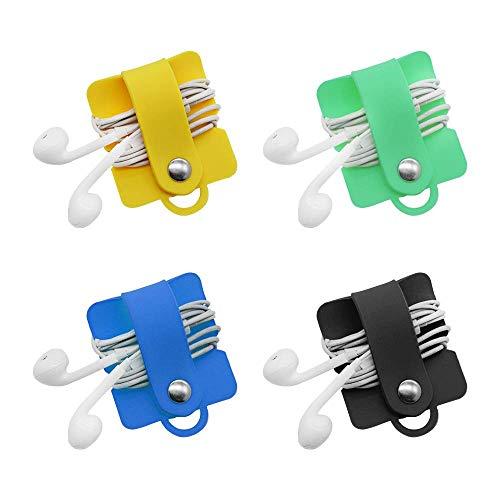 SITAKE 4 Piezas para Auriculares, Organizador de Cable, audífonos, Sujetador para Correas,...