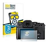 BROTECT Protector Pantalla Cristal Mate Compatible con Fujifilm X-T3 WW Protector Pantalla Anti-Reflejos Vidrio, AirGlass (3 Unidades)