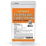 Turmeric Curcumin & Black Pepper Supplement - 3200mg per Serving - 120 High Strength Vegan Tablets - 95% Curcuminoids - Made in The UK