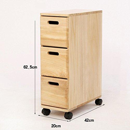 Aufbewahren & Ordnen BOBE Shop- Storage Racks-Gap Schublade Typ Schrank, schmale Schrank mit Rad, mehrschichtige hölzerne Küche Wohnzimmer Lagerregal, Breite 20cm (Farbe : #1, größe : DREI Schichten)