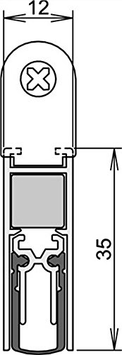 Athmer Türdichtungen Doppeldicht M-12/35 | Länge (mm): 833