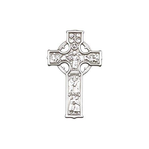 Antique Silver Tone Celtic Cross Visor Clip