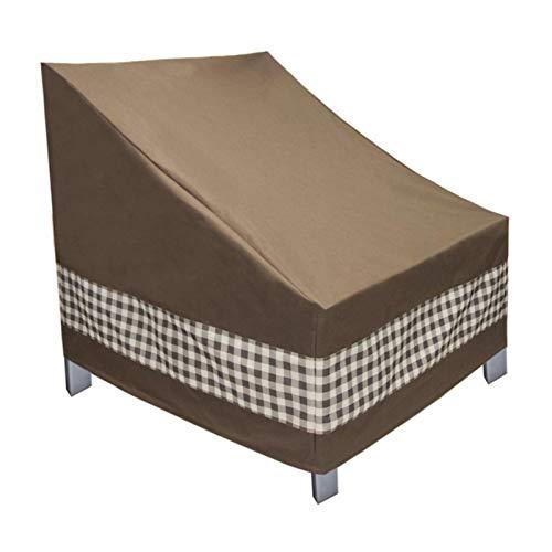Funda para silla de patio, funda de asiento de jardín, resistente al viento, impermeable, tela Oxford 600D anti UV, para sillas apilables, protector de muebles de césped de exterior