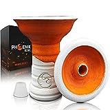 Phoenix Fury 2.0 - Cazoleta Cachimba Shisha Accesorio para Gestor de Calor shisha Tarro Ceramica Artesanal Con Goma para Cachimba o Junta Shisha Consumo optimo Tabaco cachimba - Tipo Phunnel